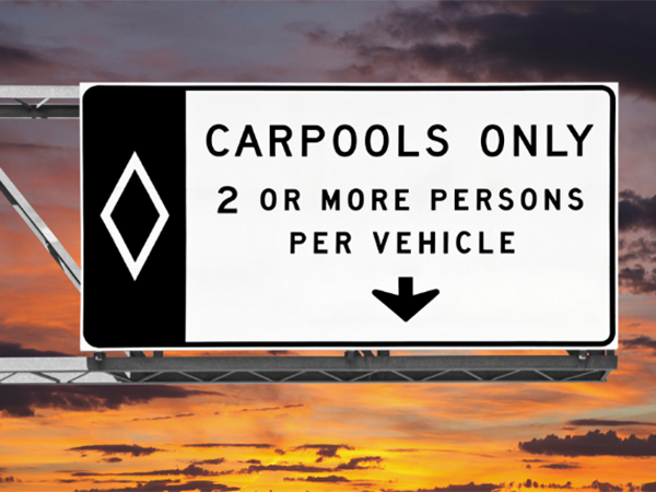 Carpool lane violations in Nevada have the risk of receiving a traffic ticket.